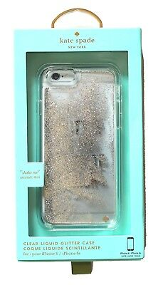 Kate Spade clear liquid glitter casee for iphone 6