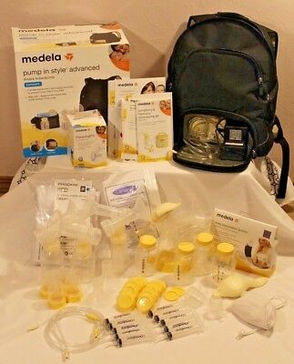 Medela Pump-in-Style Advanced Backpack Double Electric Breastpump & accessories