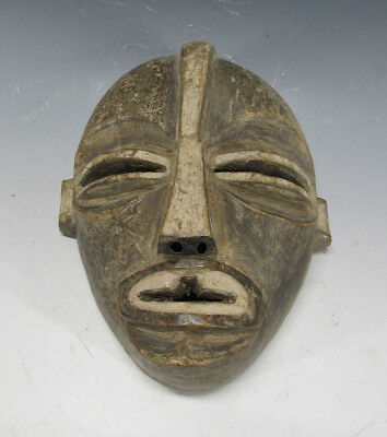 Vintage African Songye/Chowke Tribe Hand Carved Wooden Face Mask Zaire #16 yqz