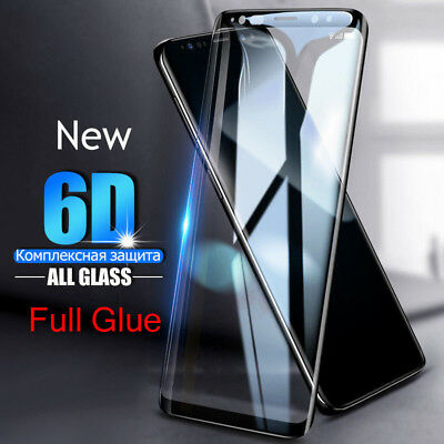 Full Glue For Samsung Galaxy S8 S9+ Note 9 6D Screen Protector 9H Tempered Glass