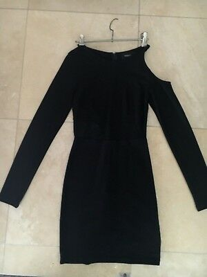 AS NEW MINK PINK Long Sleeve Cut Out Black Dress Womens Size S WORN ONCE!
