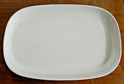 """Vintage RUSSEL WRIGHT American Modern WHITE 13"""" OVAL PLATTER Steubenville NICE!"""