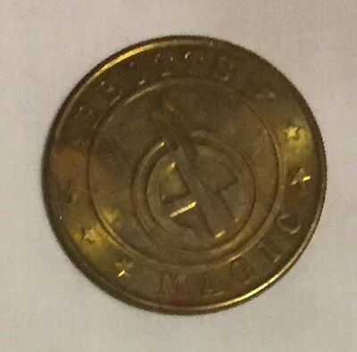 ABBOTTS MAGICIAN TOKEN, Brass . The more common ones are chromed.