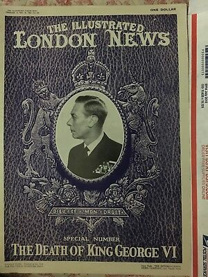 The Illustrated London News February 16, 1952 Feature Death of King George VI