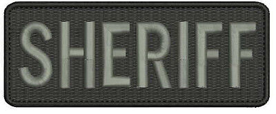 Sheriff embroidery Patch 2x5 hook the letters are grey