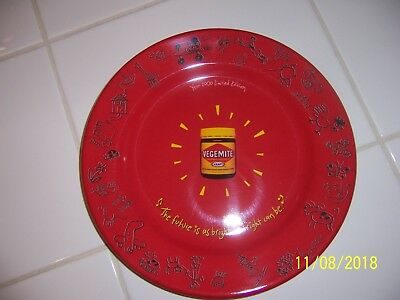 Vintage/retro collectable Kraft VEGEMITE  melamine plate YEAR 2000 (NEW)