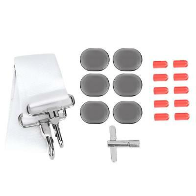 4Pcs/Set Adjustable Snare Drum Belt Key Wrench Stick Cover Mute Pads Set