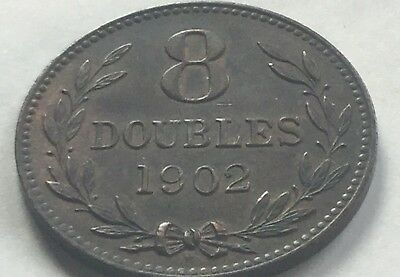 Guernesey 8 Doubles Coin 1902