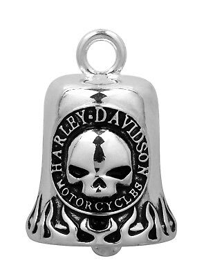 Harley-Davidson® Silver Classic Willie-G Skull Flame Motorcycle Ride Bell HRB005
