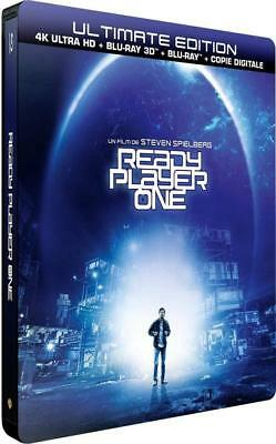 Ready Player One - Edition limitée Steelbook - Blu-ray 4K HDR + Blu-Ray 3D +...