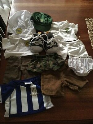 Build A Bear Boys Outfit.cricket,chef,underwear,canvas Shoes, Jersey.exc Cond.