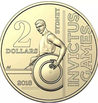 2018 Invictus Games $2 Coin From Roll UNC NEW RELEASE