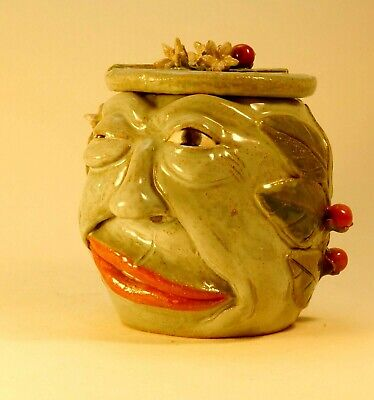 CHILI TEPIN - Anthropomorphic Spice Jar/ Spice Face Jug