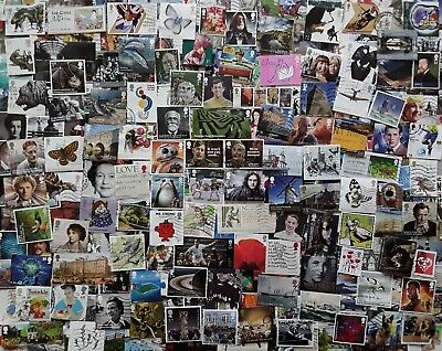 GB Kiloware 250 stamps inc High Values & Multi Issues 2001-2018 Off Paper - A3