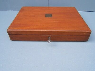 Cutlery box vintage locking with key brass insert ideal for pistol case  CB4
