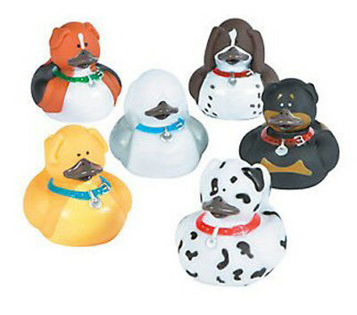 Dog Rubber Ducks Bulk buy 4-20 Mixed Puppies Cute & Fun for Parties Events etc