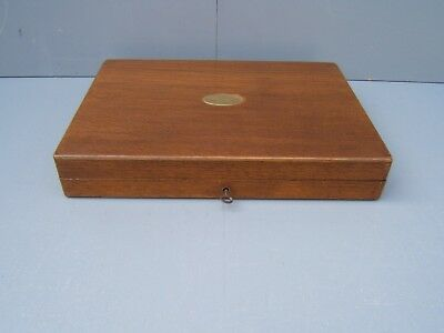 Cutlery box vintage  with key brass insert ideal for pistol case  CB6