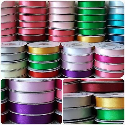 20% OFF!! FULL ROLLS QUALITY DOUBLE SIDED SATIN RIBBON 16mm x 25M & 10mm x 50M