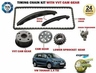 For Vw Touran 1.4 Tsi + Eco 2006-2015 Timing Chain Tensioner Kit + Vvt Cam Gear