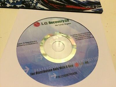 CD LG Recovery CD Ver 1.0 H2 English P/N 2188B76065B