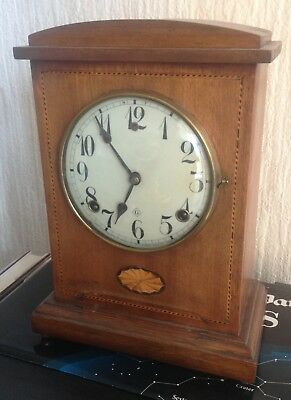 William L Gilbert Usa Antique Chiming Pendulum Mantle Clock