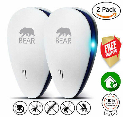 Ultrasonic Pest Repeller DUALPACK Fast Mouse and Rat Indoor Electronic Plug-In