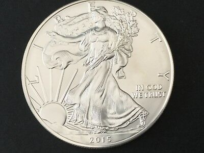 USA 1oz SILVER DOLLAR COIN 2015 mint uncirculated. $1 ONE OUNCE FINE .999 SILVER