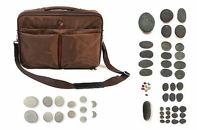 VULSINI Advanced Hot & Cold Stone Kit with 56 stones inc Basalt and cold bag