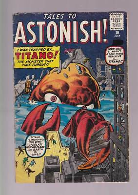 Tales to Astonish # 10  Trapped by...Titano !  grade 4.5 scarce book !