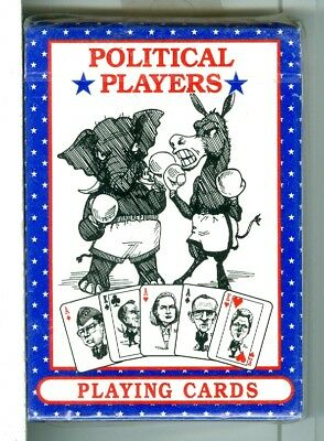 """Sealed Deck """"Political Players"""" Playing Cards, USA, 1990's"""