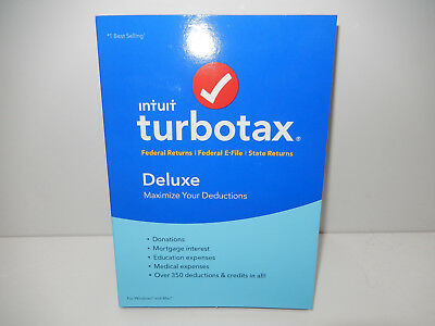 Turbotax intuit Deluxe 2017 brand new sealed. Maximize your Deductions