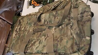 US military multicam Code Alpha Mini Monster Rolling Duffle Bag used defects #1