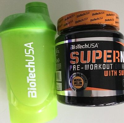 (5,32€/100g)BioTech USA Supernova Pre-Workout Drink Dose 282g+Bonus Shaker