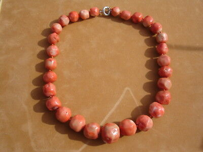 Tres Rare  Enorme Collier Corail Rouge 276,5 G