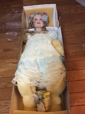 Treasure Collection Porcelain Doll Paradise Galleries 24 inch Caroilne in Box