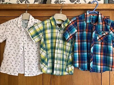 2 X Ted Baker 1 X Next Shirt Boys 3-4 Years Bundle Used But Excellent Condition