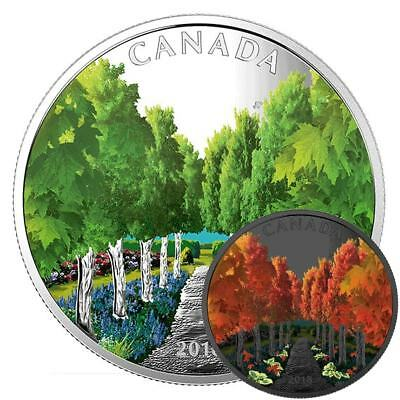 Maple Tree Tunnel– Glow-In-The-Dark - 2018 $20 1 Oz Proof Silver Coin