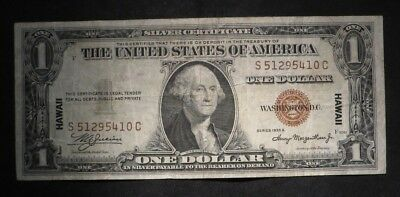 1935-A One Dollar $1 Hawaii Brown Seal Silver Certificate- Fine   #5410