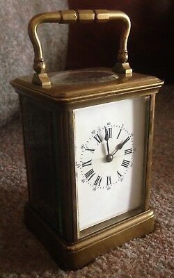 Antique Brass Platform Escape French Carriage Clock - Spares Or Repair.