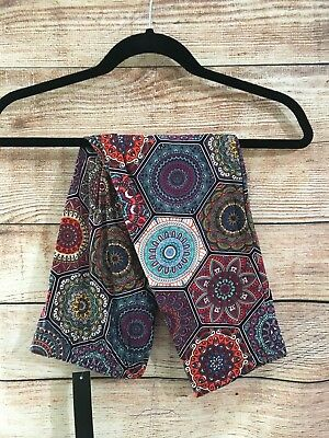 Tall And Curvy Super Soft Capri Leggings Misses Geometric Flower Power P049N