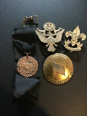Group Of Pins Ymca ,Boyscout,military,