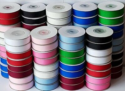 10% OFF!! 5M QUALITY GROSGRAIN RIBBON  CUT FROM THE ROLL 10mm 16mm 25mm WIDTHS