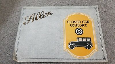 Allen Motor Car Company - Closed car comfort Promo - 1920s