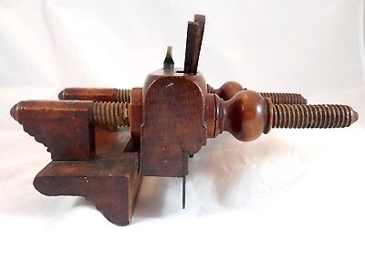 Antique American Early 19th Century Plough Plane by R & L Carter, Troy New York