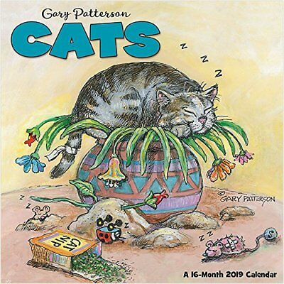 Gary Patterson - Cats - 2019 Wall Calendar - Brand New - Humor Funny Hth102
