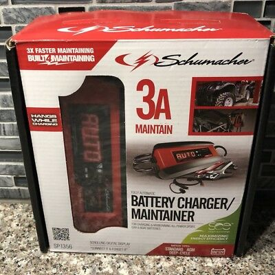 BRAND NEW SEALED Schumacher 3A Automatic Charger/Maintainer 6V/12V SP1356