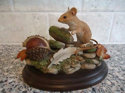 Country Artists Woodmouse And Horse Chestnut Figurine ,no Ca339,1989