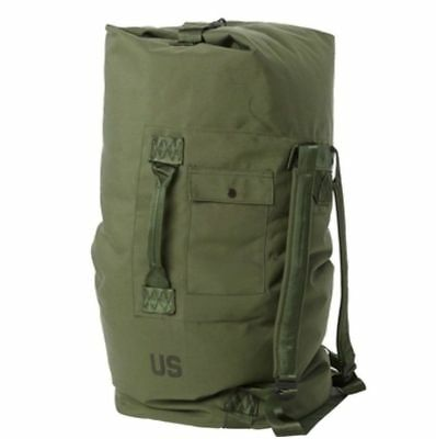 US Army Military Nylon Duffel Bag, OD Green, USGI Issue 8465-01-117-8699 Good