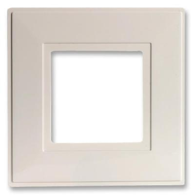 X2 White Finger Plate Light Switch Socket Wall Back Cover Surround ~Pack Of 2~