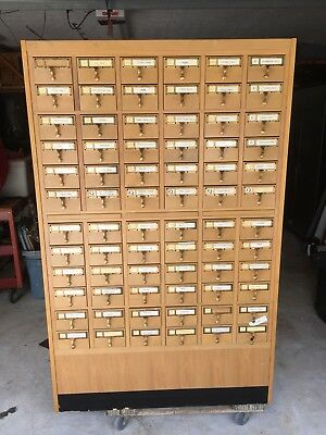 Vintage 72 Drawer Library Card Catalog Cabinet